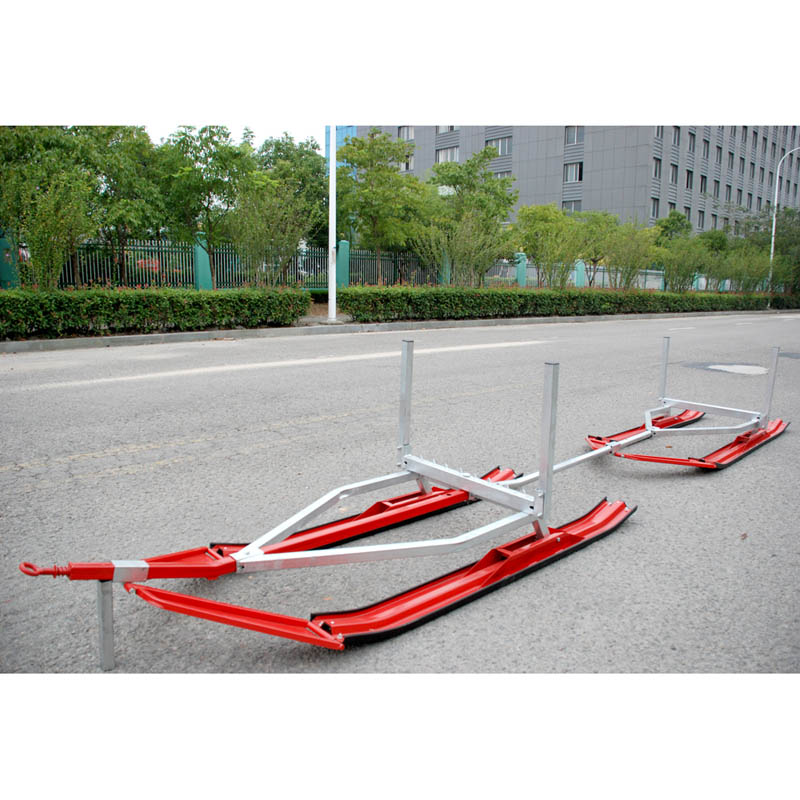 Snow tandem timber ski sled
